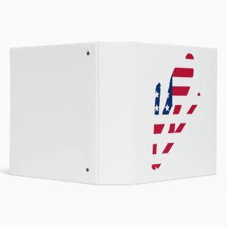 Ski Jumper American Flag Vinyl Binder