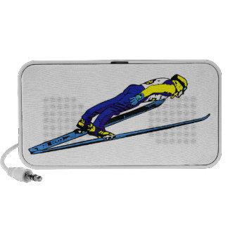 Ski Jumper Athlete Doodle iPhone Speaker