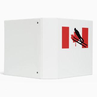 Ski Jumper Canadian Flag Vinyl Binders