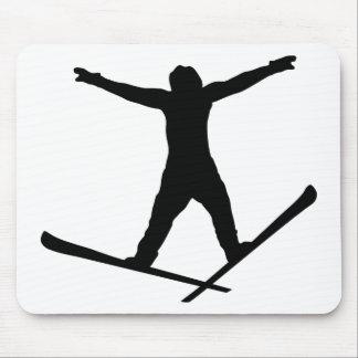 Ski Jumper Fun Mouse Pads