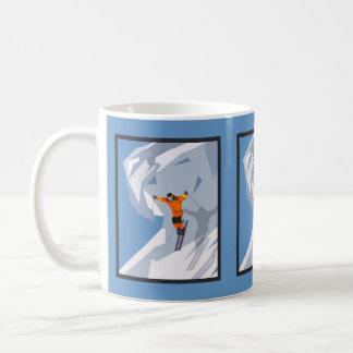 Ski Jumper Skiing Winter Modern Sports Design Coffee Mug