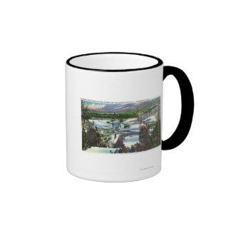 Ski Jumper Takes off from the Olympic Ski Hill Coffee Mug
