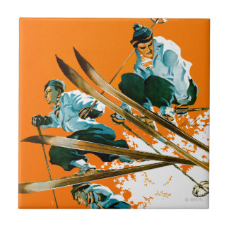 Ski Jumpers by Ski Weld Ceramic Tile