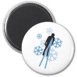 Ski jumping 3c 2 inch round magnet