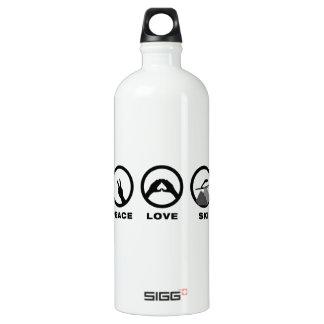 Ski Jumping Aluminum Water Bottle