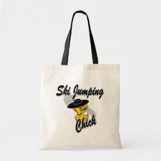 Ski Jumping Chick #4 Tote Bag