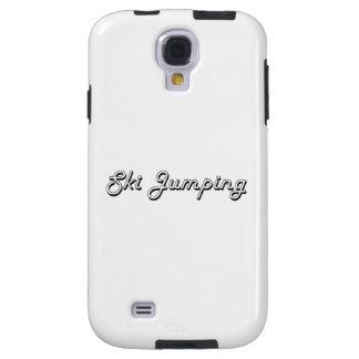 Ski Jumping Classic Retro Design Galaxy S4 Case