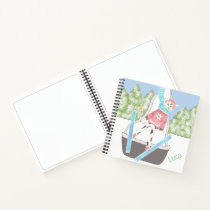 Ski jumping cow   Kid personalized sketch notebook