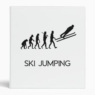 Ski Jumping Evolution Vinyl Binder