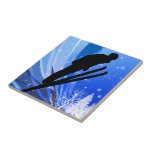 Ski Jumping in the Snow Tile
