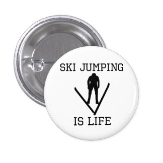Ski Jumping Is Life Button