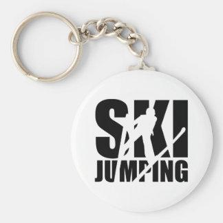 Ski jumping keychain