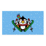 Ski Jumping Penguin Double-Sided Standard Business Cards (Pack Of 100)