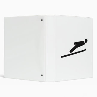 Ski jumping vinyl binders