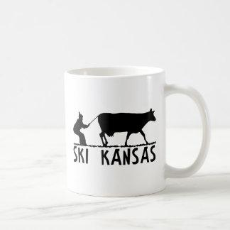 Ski Kansas Classic White Coffee Mug