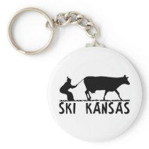 Ski Kansas Keychain