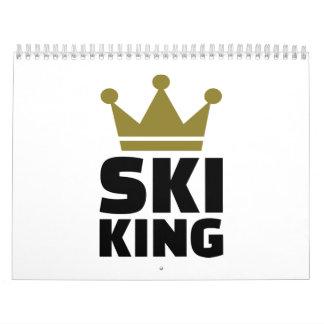 Ski King champion Wall Calendar
