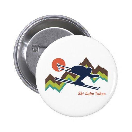 Ski Lake Tahoe 2 Inch Round Button