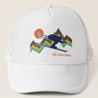 Ski Lake Tahoe Trucker Hat