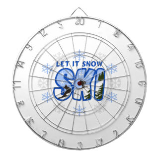 SKI LET IT SNOW DARTBOARDS