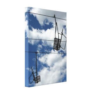 Ski Lift and Sky Canvas Print