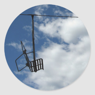 Ski Lift and Sky Classic Round Sticker