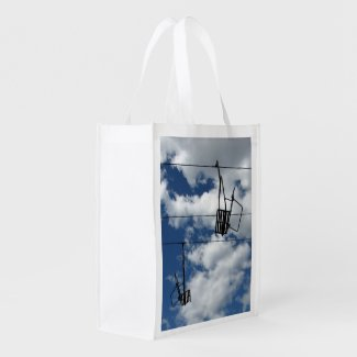 Ski Lift and Sky Grocery Bags