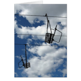 Ski Lift and Sky holiday card