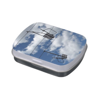 Ski Lift and Sky Jelly Belly Tin