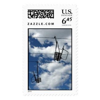 Ski Lift and Sky – Large stamp