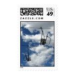 Ski Lift and Sky – Medium stamp