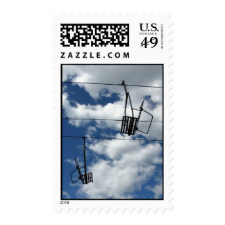 Ski Lift and Sky – Medium stamp