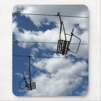 Ski Lift and Sky Mouse Pad