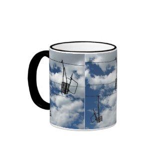 Ski Lift and Sky mug