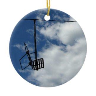 Ski Lift and Sky ornament