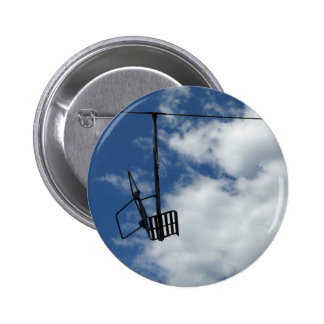Ski Lift and Sky Pinback Button