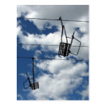 Ski Lift and Sky Postcard