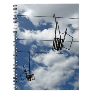 Ski Lift and Sky Spiral Notebook