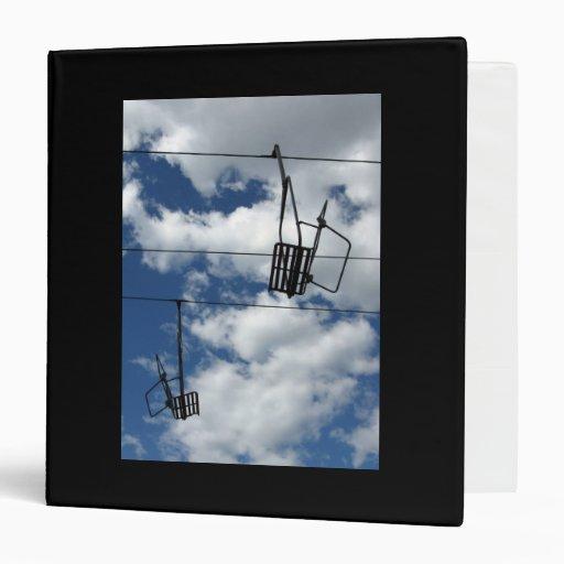 Ski Lift and Sky Vinyl Binder