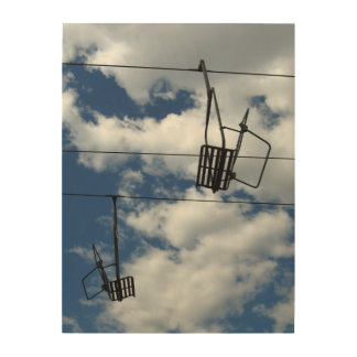 Ski Lift and Sky Wood Canvases