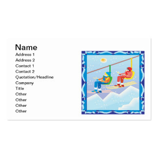 Ski Lift Business Card