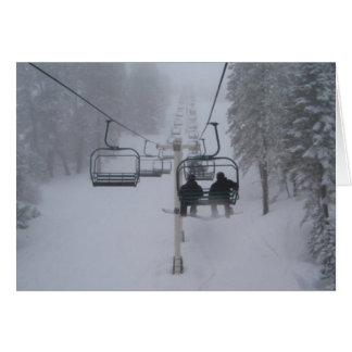 Ski Lift Greeting Cards