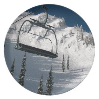 Ski Lift Melamine Plate