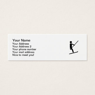 Ski lift mini business card