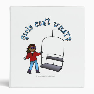 Ski Lift Operator Vinyl Binder