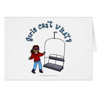 Ski Lift Operator Greeting Card