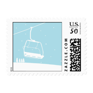 Ski Lift Postage