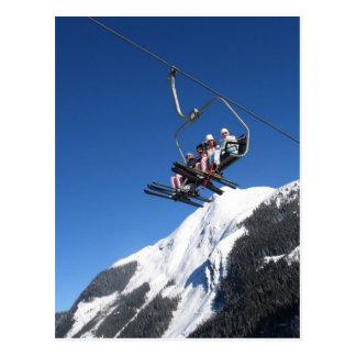 Ski Lift Postcard