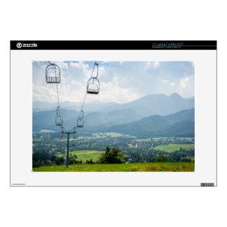 "Ski Lift Summer Mountains Landscape 15"" Laptop Skin"