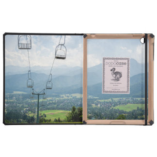 Ski Lift Summer Mountains Landscape iPad Case